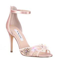 6fb41f294f Clarity-blush satin. Nina Shoes