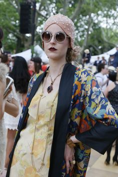 On the grounds of the 11th annual Jazz Age Lawn Party in Governors Island Urban Fashion, Diy Fashion, Retro Fashion, Fashion News, Vintage Fashion, Womens Fashion, Fashion History, Fashion Rings, Vintage Style