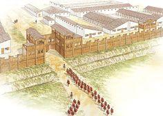 """""""Augustan fortress at Marktbreit, c. 5 BC""""   Brian Delf"""