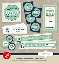 Style Me Gorgeous Father's Day printables. info@stylemegorgeous.com.au