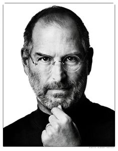 Through black and white. Steve Jobs.