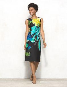 Statement Floral Midi Dress  $48.00