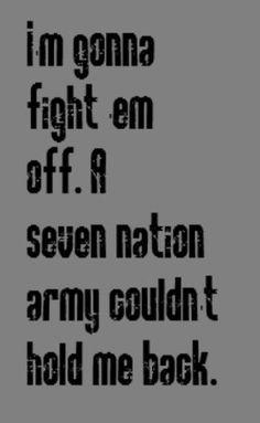White Stripes - Seven Nation Army - song lyrics, songs,music lyrics, song quotes, music quotes