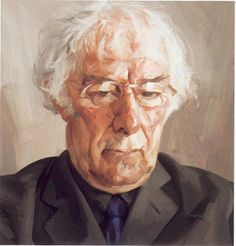 """lepuslunar: """" Portrait of Seamus Heaney 13 April 1939 – 30 August 2013 by Tai-Shan Schierenberg """"It is always better to avenge dear ones than to indulge in mourning. For every one of us, living in. Painting People, Figure Painting, Tai Shan Schierenberg, Seamus Heaney, A Level Art, National Portrait Gallery, Art Academy, Art Uk, Portrait Art"""
