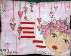 Wood And Fabric: Un peu d'art journal
