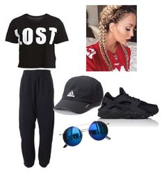 """""""bounce back"""" by damnitbae ❤ liked on Polyvore featuring VILA, adidas Originals, adidas, NIKE and Chicnova Fashion"""
