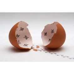 A normal person sees a chick tallying the days in the egg, much as a person might tally the days they are in prison. I, however, wonder how the the Silence got inside an egg. #doctorwhom