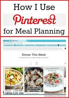Do you need to cut expenses? The grocery budget is the easiest budget category to reduce, so I am diligent every weekend to plan our meals for the upcoming week. Pinterest is one of my meal planning tools and in this post I share How I Use Pinterest for Meal Planning.