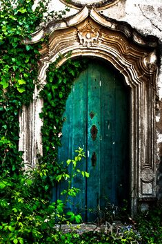 Turquoise Blue Door