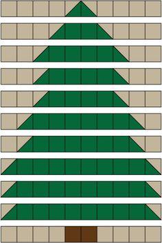 Christmas Tree Rag Quilt Pattern - © Janet Wickell