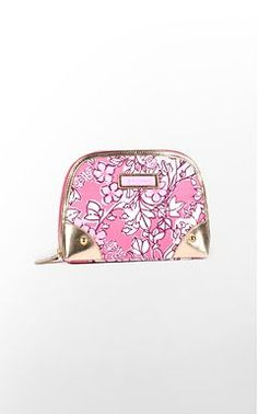 Carry your cosmetics in style with this Lilly Pulitzer - Alpha Phi makeup case!