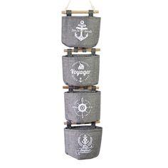 Hoomall Wall Hanging Storage Bags Organizer Navy Linen Closet Hanging Storage Bag 20x14cm 1Set(4PCs)