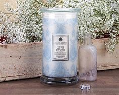 Cotton Blossom Candle for $25.00 at JewelScent.com   Enjoy the clean, crisp scent of cotton blossom.