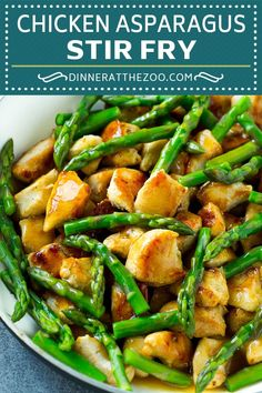 Chicken and Asparagus Stir Fry   Chicken Stir Fry   Easy Stir Fry   Asparagus Recipe #asparagus #chicken #stirfry #healthy #dinneratthezoo