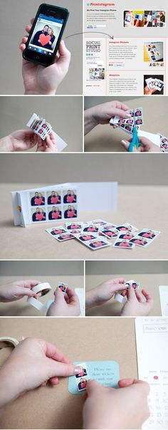Instagram Save-the-Date Stickers! $10 for 250! cute idea!
