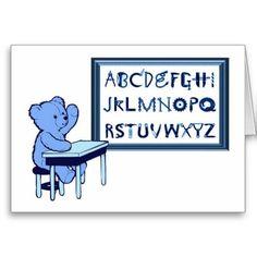 Blue Bears Toolbox Alphabet Card
