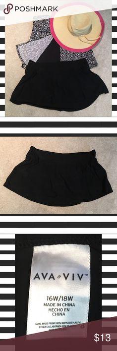 Black Swim Skirt Black Swim Skirt. Size 16w/18w Ava & Viv Swim