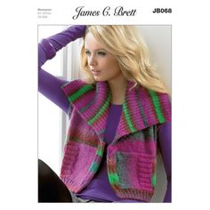Waistcoat in James C. Brett Monsoon - JB068