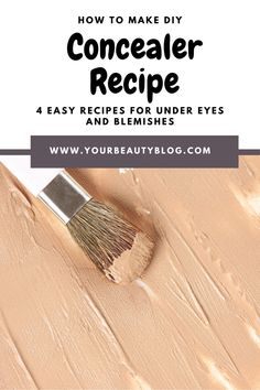How To Make Concealer, Concealer Diy, Diy Makeup, Clean Makeup, Makeup Ideas, Homemade Mascara, Natural Beauty Tips, Diy Beauty, Natural Recipe