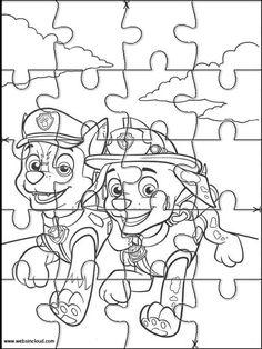 Puzzle. Jigsaw da stampare per bambini Paw Patrol 15