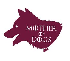 Are you a dog lover and fan of Game of Thrones? Then this is the decal for you! Be your very own khaleesi, tamer of doggies through vigorous walkies and games of catch.  (Guys, if you want to be the Father of Dogs, just send me a note and I can adjust the decal to accommodate my XY chromosomal brothers!)  I also have Mother of Cats and Mother of Chickens available in my shop!  ******** Specs ********  Colors: 14 COLOR OPTIONS! Check the handy-dandy color guide image above!  Material: Outdoor…