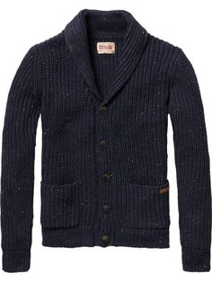 Japanese styled knitted cardigan in naps yarn quality - Scotch & Soda