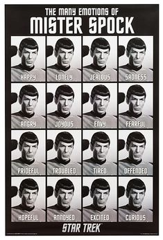 Star Trek Emotions of Spock Poster