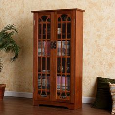 Holly & Martin 63 112 039 4 25 Grayson Window Pane Media Cabinet Oak is part of Tall Glass cabinet - Manufaturer part number Item Wt 60 lbs Dvd Storage Cabinet, Tv Stand Cabinet, Cd Storage, Media Storage, Glass Cabinet Doors, Glass Doors, Glass Shelves, Storage Ideas, Dvd Cabinets
