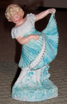 pretty antique figurines | Pretty Heubach Figurine - Lovely accessory for antique doll from ...