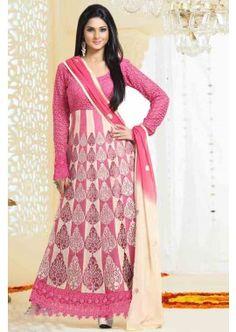 Beige,Pink color Georgette,rachel Net Anarkali Suit, -  £96.00,  #Anarkalisuitsuk  #Designersalwarkameezuk  #Anarkalidressesuk  #Anarkalisuitsukonline  #Shopkund
