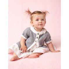 Free Intermediate Baby's Cardigan Knit Pattern  Sponsored By: Grandma's Crochet Shop