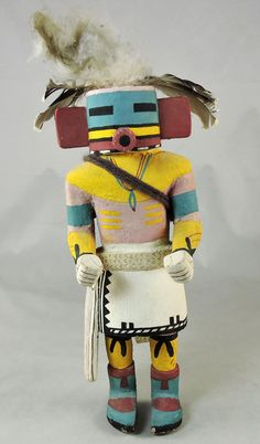 Traditional Hopi Kachina carved in the 1950-60s, Peeping Out Man.