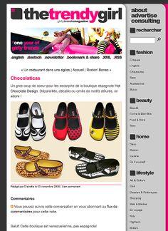 Fashion Blog > The Trendy Girl, girly trends magazine - 2008 - France #chocolaticas #hotchocolatedesign #hcd #shoes #fashion #design #moda