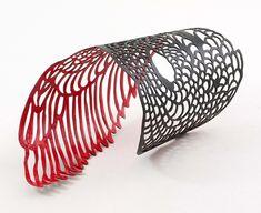 Camilla Luihn. Bracelet: The Phoenix Remix, 2013 Lacquered copper