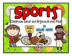 Sport Themed Classroom Decor and Organizational Pack $12.50