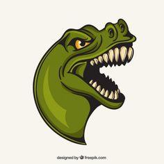 T-Rex Mascot Free Vector