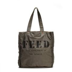 I need a new one and now it comes in gray!  Great idea for a gift, 1 bag purchase feeds 1 child for 1 year! FEED 1 Bag in Gray - FBAG001-2