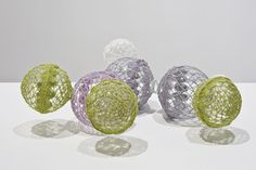 Lisa Solomon    lewisite, 2011, crochet and glass balls, 16 x 11 x 4 inches