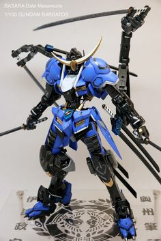 BASARA Date Masamune | 1/100 Gundam Barbatos Custom by Cheng-jen Hung I really like what the modeler did to this Barbatos kit; the color scheme is very pleasant to see, especially the color separation. I am also impressed on the details, look at the sword handle, yeah that's one of the most impressive details I've seen. This 1/100 Barbatos is gorgeous!
