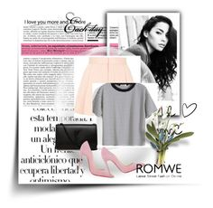 """""""romwe t shirt"""" by sara324 ❤ liked on Polyvore featuring Arco, Topshop, Yves Saint Laurent and Christian Louboutin"""