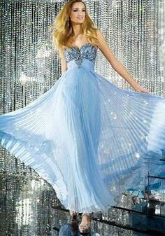 Chiffon Floor Length Sheath/ Column Empire Sweetheart Dresses For Prom - Lunadress.co.uk