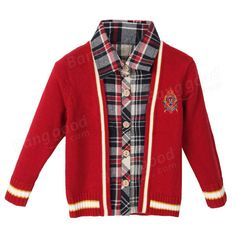 Baby Children Boys Wool Bow Thick Tie Plaid Sweater at Banggood Boys Sweaters, Kids Boys, Mothers, Parents, Bows, Plaid, Tie, Children, Jackets