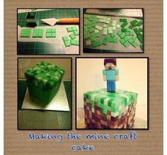 Making a minecraft cake