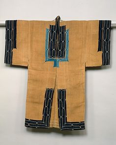 Ainu costume  Period: Meiji period (1868–1912) Date: 19th century Culture: Japan Dimensions: L. (neck to hem) 53 1/2 in. (135.9 cm); W. (sleeve end to sleeve end) 51 1/2 in. (130.8 cm) Classification: Costumes