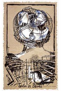 William Kentridge Art in a State of Hope, 1988 Screenprint