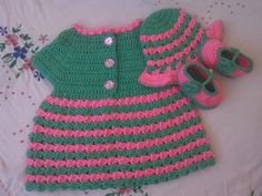 -frocjk design, crochet baby frock, crochet dress, crochet sweater, crochet hat pattern, crochet booties and hat crochet baby sweater/dress free pattern with pictures tutorial in urdu/hindi/english by crochetcrosiahome