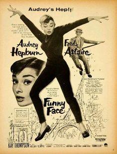 """Publicité pour """"Funny Face"""", 1957."""