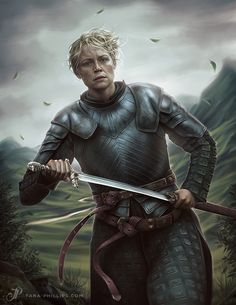 """Oathkeeper"" by Tara Phillips (aqueous-transmission) | Brienne of Tarth | Game of Thrones | #Fantasy #ASOIAF #GoT"