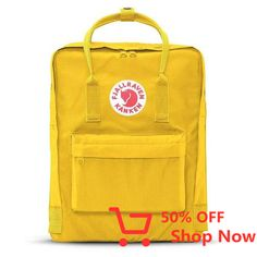 Shop your Kanken bag or backpack from the official Fjallraven US online store. We have Kanken mini, re-Kanken and the original, iconic Kanken bag Popular Backpacks, Cool Backpacks, Yellow Kanken, Kanken Backpack, Red Backpack, Backpack Straps, Travel Backpack, Furla, Luxury Handbags