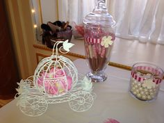 A princess touch for my candy station.